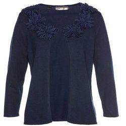 Sweter bez zapięcia, z wstawkami ze sztucznej skóry bonprix szary melanż + czarny