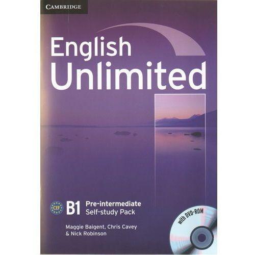 Książki do nauki języka, English Unlimited B1 pre-intermediate self-study pack (opr. miękka)