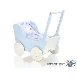 Drewniany Wózek dla Lalek, Komplet Pościeli, Mila, MY SWEET BABY