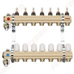 """Ferro Rozdzielacz typ RZP1"""" RZP03 S 3-drogowy zawór termostatyczny przepływomierze DO OGRZEWANIA PODŁOGOWEGO RZP03S"""