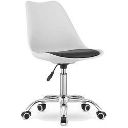 Krzesło obrotowe w stylu skandynawskim MSA009 biało-czarne