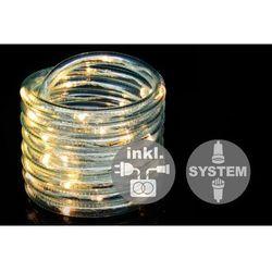 Diled kabel oświetleniowy - 40 LED ciepły biały + zasilanie
