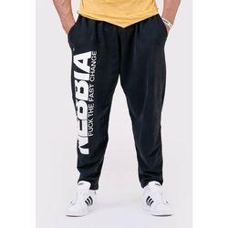NEBBIA Męskie Spodnie Dresowe Beast Mode On Czarne