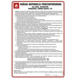 Ogólna instrukcja przeciwpożarowa dla szkół