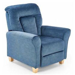 Tapicerowany rozkładany fotel wypoczynkowy Ervin - ciemnoniebieski