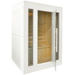 Sauna fińska z piecem E3 biała 416693 Oferta specjalna! Teraz kupisz 10% taniej.