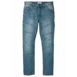 Dżinsy Regular Fit Straight bonprix niebieski dirty denim