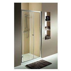 KOŁO FIRST Drzwi prysznicowe 100cm, profile srebrny połysk, szkło satyna ZDDS10214003