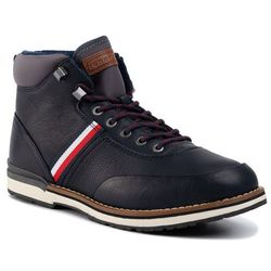 Trzewiki TOMMY HILFIGER - Outdoor Corporate Leather Boot FM0FM02534 Midnight CKI