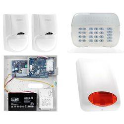 Zestaw alarmowy DSC 2x Czujnik ruchu Manipulator LED Powiadomienie, Sterowanie, Konfiguracja LAN