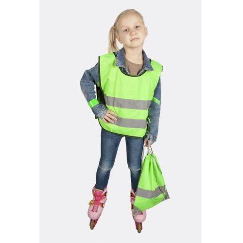 Pozostała odzież dziecięca, Kamizelka odblaskowa dla dzieci S 110-121cm - S \ zielony
