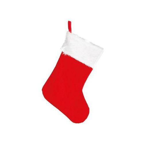 Ozdoby świąteczne, Skarpeta Mikołaja na prezenty - 45 cm - 1 szt.