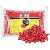 Środki na szkodniki, 1kg Trutka na szczury, myszy, gryzonie. Ratimor bromadiolone kostka.