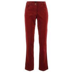 Spodnie sztruksowe bonprix czerwony kasztanowy