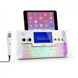 Auna DiscoFever Zestaw karaoke Bluetooth LED Ekran TFT 7 cali CD USB biały