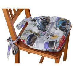 Dekoria Siedzisko Marcin na krzesło, samochody retro, 40 × 37 × 8 cm, Freestyle do -30%