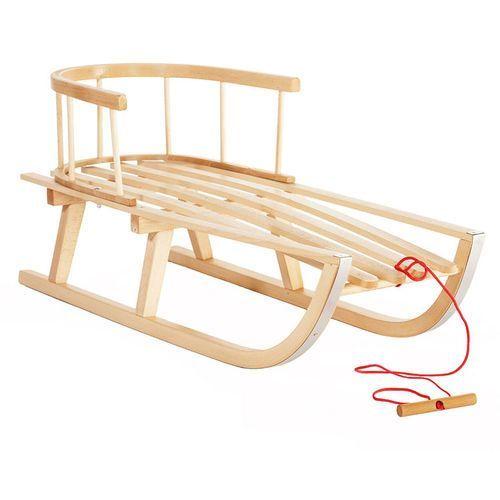 Pozostałe sporty zimowe, Sanki drewniane z oparciem ST