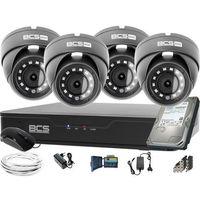 Zestawy monitoringowe, Monitoring BCS 4 kamery kopułkowe Full HD Zestaw rejestrator kamery dysk 1TB akcesoria BF