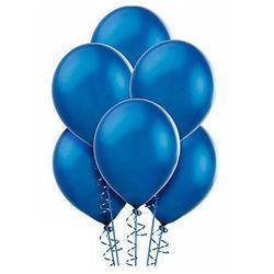 Balony lateksowe metaliczne duże - niebieskie - 100 szt.