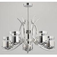 Lampy sufitowe, Lampa wisząca Alfa Indira 23115 zwis żyrandol 5x40W E14 chrom >>> RABATUJEMY do 20% KAŻDE zamówienie!!!
