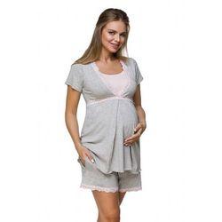 Piżama ciążowa lupoline 3126 k rozmiar: 36, kolor: szaro-różowy, lupo