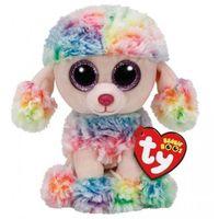 Pluszaki zwierzątka, Ty Beanie Boos Rainbow - Wielobarwny Pudel 24 cm