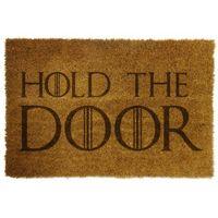 """Wycieraczki, Wycieraczka z napisem """"HOLD THE DOOR"""""""