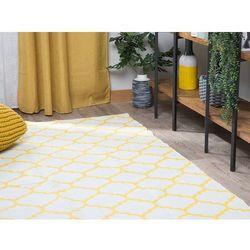 Dywan żółty 160 x 230 cm wzór marokańskiej koniczyny dwustronny AKSU