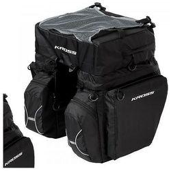 Sakwa na bagażnik KROSS ROAMER TRIPLE REAR BAG czarna