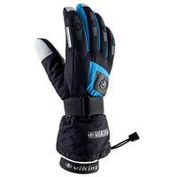 Odzież do sportów zimowych, Rękawice narciarskie Viking Printer - czarno-niebieski viking (-25%)