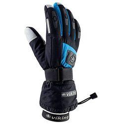 Rękawice narciarskie Viking Printer - czarno-niebieski viking (-28%)