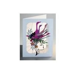 Karnet wycinany + koperta kobieta z gęsiami