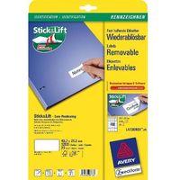 Etykiety biurowe, Etykiety uniwersalne AVERY ZWECKFORM usuwalne 45,7 X 21,2 mm, 48 etykiet/A4 - X06557