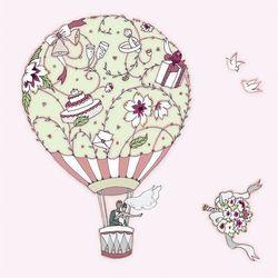 Karnet Swarovski kwadrat Ślub balon - Clear Creations OD 24,99zł DARMOWA DOSTAWA KIOSK RUCHU