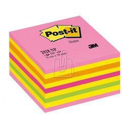 Karteczki samoprzylepne Post-it®, kostka, cukierkowy róż, 76x76mm, 450 k, 2028
