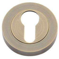 Szyld drzwiowy Gamet Carino dolny na wkładkę mosiądz antyczny