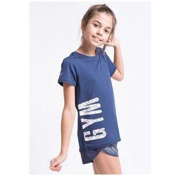 Koszulka sportowa dla dużych dziewcząt JTSD402z - granatowy