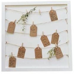 Księga gości weselnych - Ramka z karteczkami i klamerkami