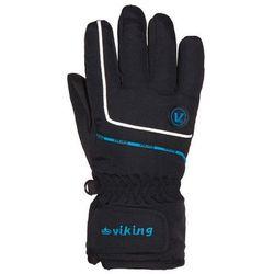 Rękawice zimowe dziecięce Viking Kevin - czarny z niebieskim viking (-28%)