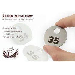 Żeton metalowy - do szatni, przychodni lekarskich itp.