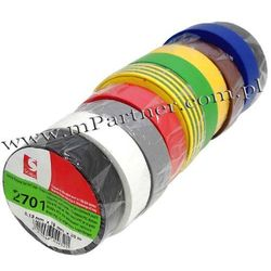 Taśma izolacyjna Scapa PCV 2701 19mm 20m mix kpl 10szt