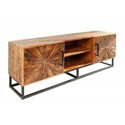 INVICTA szafka pod telewizor WOOD ART - 145 cm Mango, drewno naturalne, metal