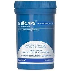 BICAPS HYALURONIC ACID Formeds, Kwas Hialuronowy, 60 kapsułek