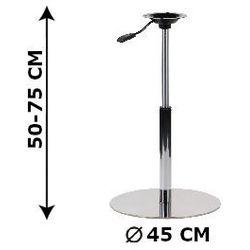 Regulowana podstawa stolika SH-3019, (stelaż stolika), stal nierdzewna szczotkowana