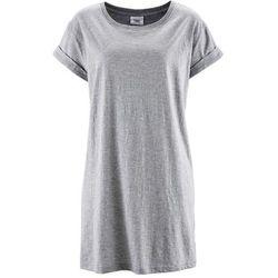 """Długi shirt """"boxy"""", krótki rękaw bonprix jasnoszary melanż"""