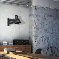 Lampy ścienne, LAMPA ścienna HARMONY 9890 Nowodvorski industrialna OPRAWA na wysięgniku KINKIET harmonijka loft czarna