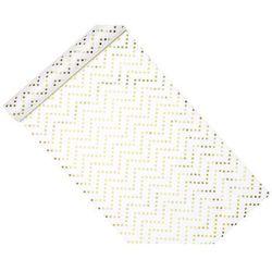 Dekoracja bieżnik na stół biały w złote gwiazdki - 9 m - 1 szt.