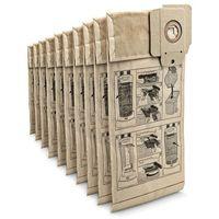 Worki do odkurzaczy, Papierowe trójwarstwowe worki filtracyjne (10 szt.) do CV 30/1, 38/1, 38/2, 48/2 (Karcher 6.904-294.0)