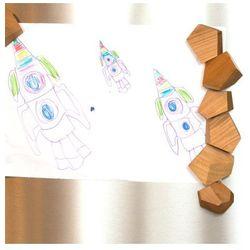 Zestaw magnesów Alexandra (5 szt). Niepowtarzalne, drewniane magnesy na lodówkę