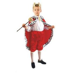 Kostium Król czerwony rozmiary: od 110 do 140 cm - S, M, L - L - 134/140 cm